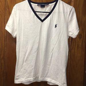 Ralph Lauren Sport Women's White Short Sleeve Polo